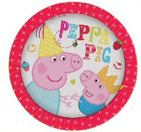 Peppa Pig Red Party plates