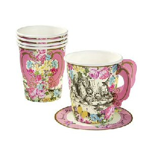 Truly Alice Whimsical Cup and Saucers