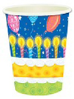 Birthday cake party 9oz cups