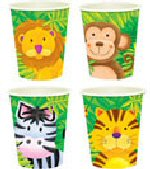 Jungle safari party cups 8s