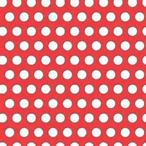Red and white polka dot tube of pencils